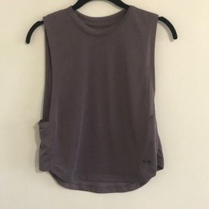 Purple UnderArmour cropped tank